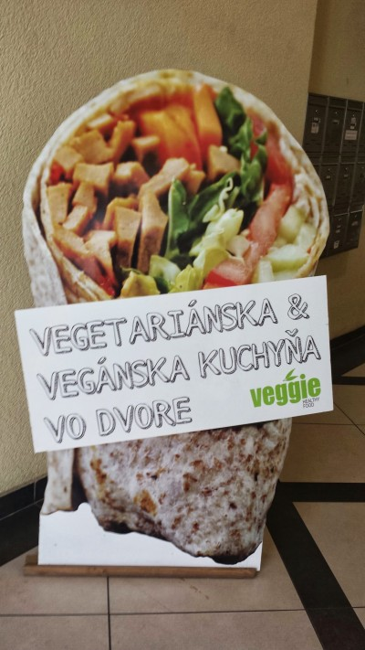 Veggie Wraps sign