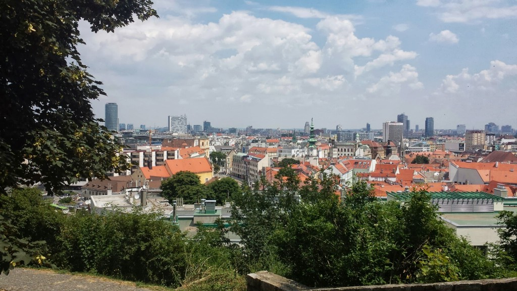 View of Bratislava from Bratislava Castle