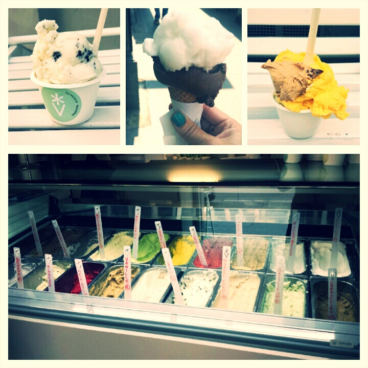 The vegan ice cream selection at both places was overwhelming, in the best possibly way.
