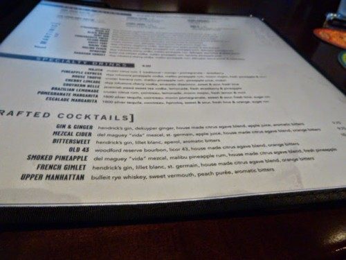 Yard House drink menu